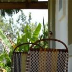 Haus Korbstuhl Bananenpalme