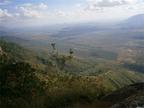 View onto the Maasai Plain